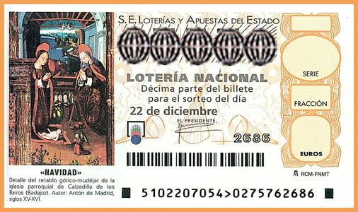 Loteria de Navidad ticket